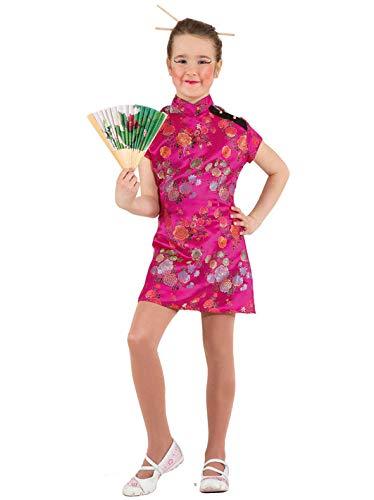 Faschingskostüm Kinder Chinesin pink Gr. 116