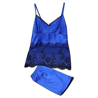 RAINED-Womens Sleepwear Satin Pajama Cami Set Sexy Nightwear Soft Nightgowns Pajama Set Breathable Cami and Shorts Set