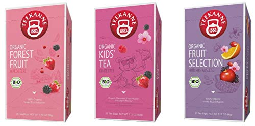 Teekanne Bio Früchtetee - Forest Fruit, Kids' Tea, Fruit Selection (3 x 20 Teebeutel, 170 g)