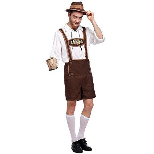 Urisgo - Conjunto de disfraz para hombre y adulto, con camisa y sombrero, medium