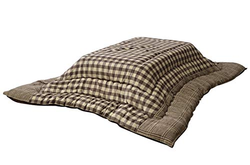 イケヒコ こたつ布団 長方形 チェッカー 約205×285cm ブラウン チェック 大判 日本製 #5182159
