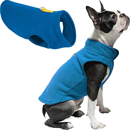 Gooby Dog Fleece Vest - Deep Blue, X-Large - Pullover Dog Jacket with Leash Ring - Winter Small Dog Sweater - Warm Dog Clothes for Small Dogs Girl or Boy for Indoor and Outdoor Use