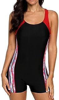 ملابس سباحة نسائية قطعة واحدة من بيوتي إن، ملابس سباحة رياضية بأرجل قصيرة