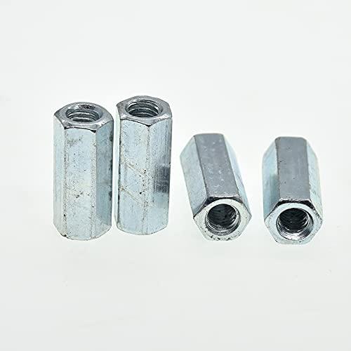 M5 M6 M8 M10 M12 M14 M16 M18 M20 Stangenkupplung Sechskantmutter Stahl Verzinkte lange Sechskantmutter Verbindungsgewindemutter DIN 6334-M6-40mm (2 St¨¹ck)