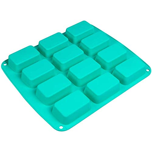 Webake Brownie Pan Silicone Mini Loaf Pan, Rectangular Bar Mold For Soap, Candy, Bread Baking, Butter, Granola Snacks, Keto Fat Bomb and Energy Bar(LFGB Standard)