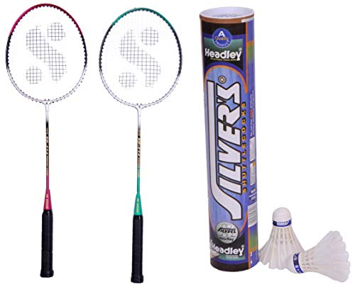 Silver's Sb-414 Gutted Badminton Rackets(Multicolour)