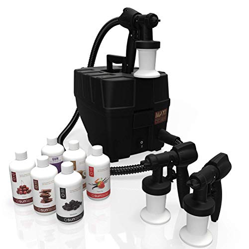MaxiMist Pro TNT Spa Quiet Sunless Tanning System with FREE Suntana Premium Sunless Solutions by MaxiMist