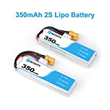 BETAFPV 2pcs 350mAh 2S Lipo Battery HV Battery 35C/70C 7.4V with XT30 20AWG Silicone Wire for 2S (Giocattolo)