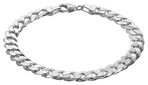 trendor Herren-Armband Silber 925 Panzer Breite 7,8 mm Silber Armband Herren, Silberschmuck Männer, Armschmuck Silber, Herren Armband Silber, Geschenkidee 75138