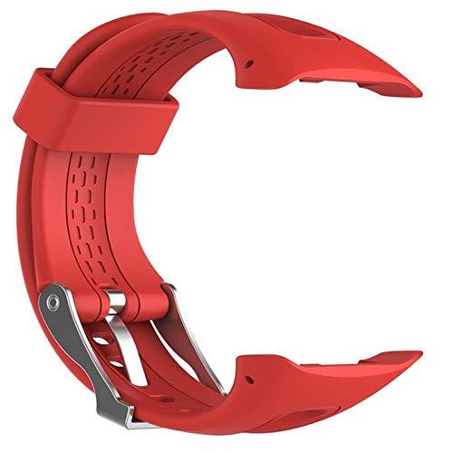 YANODA S/L 8 Couleurs Sport Silicone Bracelet Bracelet Bande for Garmin Forerunner 10 15 Montre De Sport GPS Remplacement Bracelet avec Outil Adjustable (Color : Red, Size : 25cm)