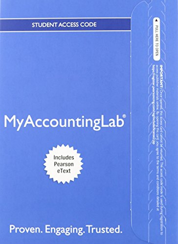 Horngren's Financial & Managerial Accounting, The Financial Chapters, Student Value Edition and NEW MyAccountingLab with