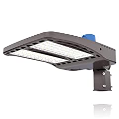 Bright LED Parking Lot Lighting & Energy Saving—This 150W led parking lot light with photocell use high-efficiency chips to provide 135lm/w of bright led pole light to make your parking lot, driveway, sport court, backyard and other places as bright ...