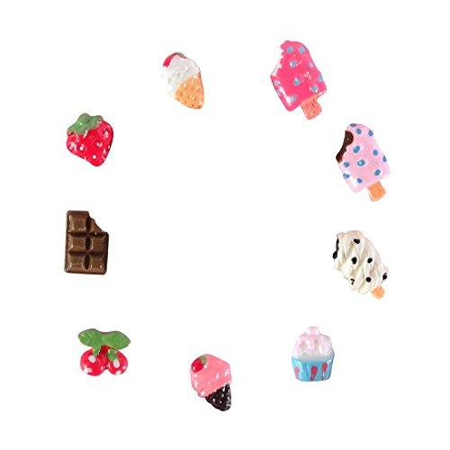 18 Mini-Gourmet-Dekorationen Fimo - Eis