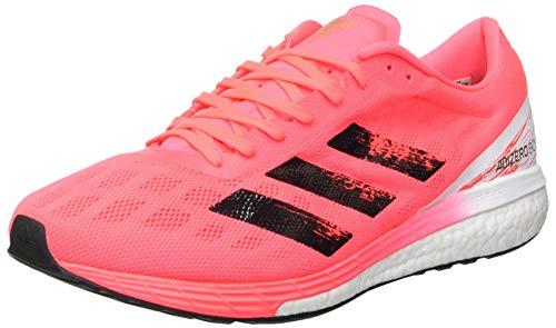 adidas Men's Adizero Boston 9 m Running Shoe, Signal Pink Core Black Copper Met, 7 UK