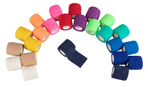 Self Adhesive Bandage Wrap, Cohesive Tape (2 in. x 5 yd, 24 Pack)