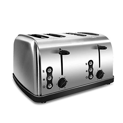 TRS 4 rebanadas de Acero Inoxidable del Doble del Control automático rápido Tostadora Calefacción Pan Tostadora de Hogares Desayuno Horno Máquina de calefacción