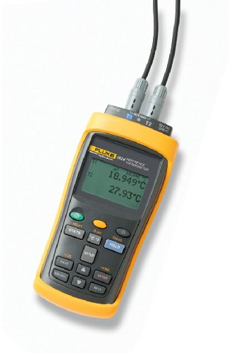 Fluke Calibration 1524-P2-156 Calibration Reference Thermometer with 5628 PRT, NIST Traceable Calibration, 2 Channel, 115V