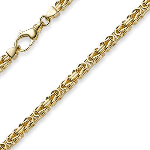 4mm Kette Halskette Königskette aus 750 Gold Gelbgold 70cm Herren Goldkette