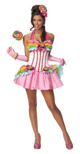 Secret Wishes Womens Lollipop Costume, Multicolor, Large