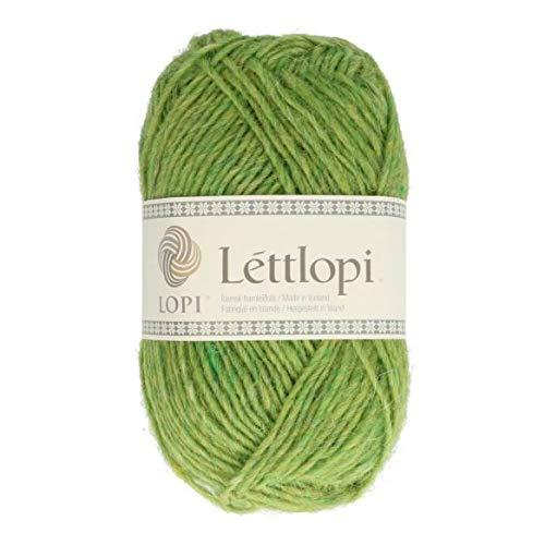 theofeel Lettlopi Wolle 1406 maigrün, Islandwolle zum Stricken von Islandpullovern, Norwegermuster