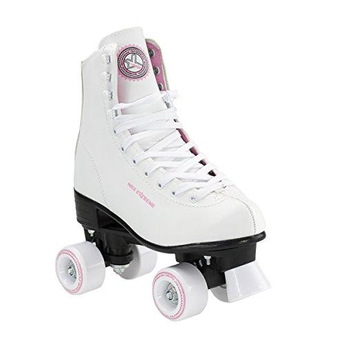 Nils Extreme Rollschuhe für Kinder Skates Rollerskates Inliner Disco Skates Sport NQ8400S (Weiß, 36)