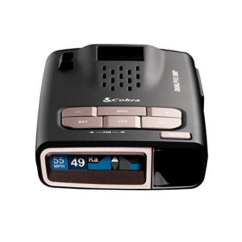 Cobra DualPro 360° Radar Detector by Creators of Escort Radar - Long Range, iRadar App, Front & Rear Advanced Sensors, Directional Alert Arrows, GPS AutoLearn Technology for Fewer False Alerts
