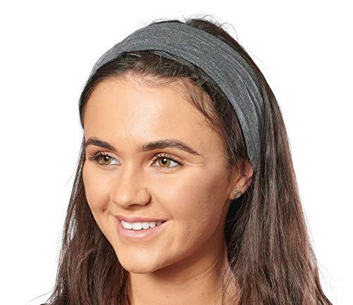 Antonia York, Stirnband für Damen, Turban, breites Kopfband Gr. Einheitsgröße, anthrazit