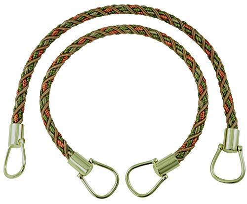 Paire de élégant LT Bronze, Vert olive, Terre cuite 6 plis Rideau et Draperie Embrasses Corde, 45,7 cm de long, env. 1/5,1 cm épais, style # Brtbm Couleur # Chaparral – 5615