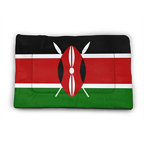 Medium Dog Bed Mat Wasbaar Krattenmatras 35 Inch Niet Slip Huisdier Kussen Pad Afrika Vlag Van Kenia Snel Droog, 35