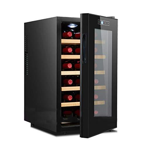 LYYAN Refrigerador de gabinete de Vino con compresor, pequeño gabinete de Vino Independiente con Viento frío y pequeño gabinete de Vino sin Escarcha Utilizado para Vino frío