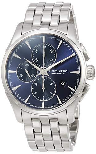 Reloj Hamilton Jazzmaster Auto Chrono Azul Brazalete Acero H32586141