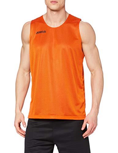 Joma Aro Basketball Reversibil Camiseta, Hombres, Naranja-800, XL