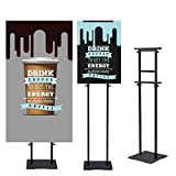Sign Holder Stand Pole: The pole uses advanced technology and manufacturing techniques, first polished, and then spray paint. Made of Aluminum, you don't have to worry about its service life, this material is very strong. Excellent design concept, so...