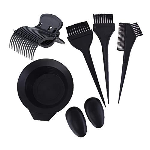 F Fityle Kit de 18x Coiffure Teinte Outils - Bol Peigne Brosse Clips Cache-Oreilles pour Cheveux Couleur Colorant
