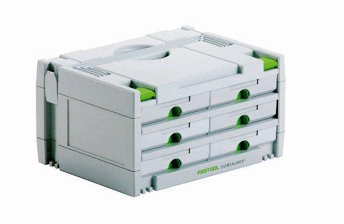 FESTOOL Schubladen Sortainer SYS 3 SORT/6 Schubladen 395 x 295 x 210 mm, 1 Stück,491984