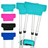 Vive Crutch Pads - Padding for Walking Arm Crutches - Universal Underarm Padded Forearm Handle Pillow Covers for Hand Grips - Soft Foam Armpit Bariatric Accessories for Adults, Kids (1 Teal Pair)