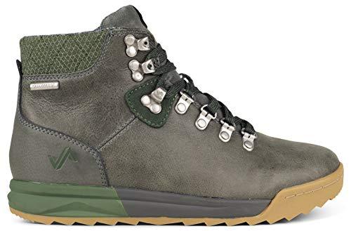 Forsake Patch - Women's Waterproof Premium Leather Hiking Boot (7 M US, Grey/Cypress)