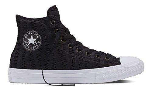 Converse Chuck Taylor All Star II, Zapatillas Altas Unisex Adulto, Negro Black White Gum, 36 EU