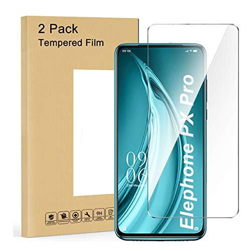 LJSM Vidrio Templado para Elephone PX Pro [2 Piezas] Protector de Pantalla Proyectar película Protectora Cristal Vidrio Templado para Elephone PX Pro (6.53')