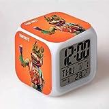 フォートナイト 7色イルミネーション デジタル 目覚し時計 アラーム トマトヘッド