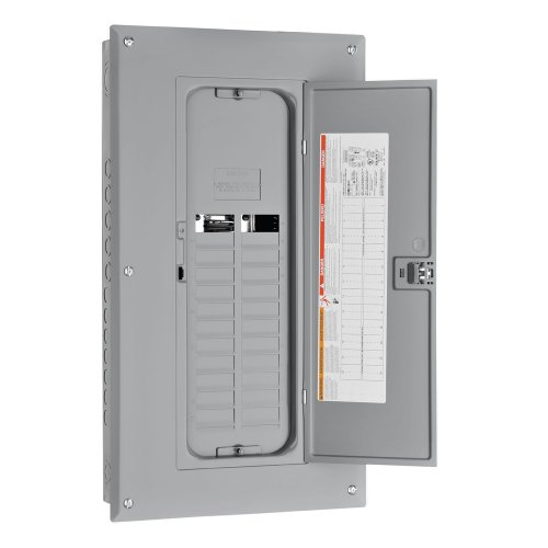 Square D by Schneider Electric HOM2024L125TC Homeline 125-Amp 20-Space 24-Circuit Main Lug Load Center