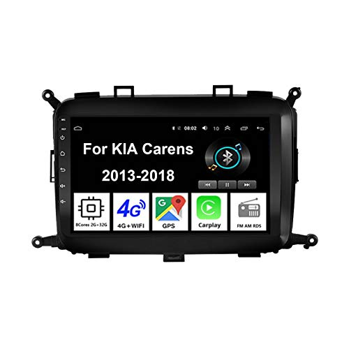 Android 10 Radio De Coche 9 Pulgadas Pantalla Táctil Reproductor De Mirror Link para KIA Carens 2013-2018 Coche Conecta Y Reproduce Coche Audio FM/Am/RDS Video SWC Cámara Trasera