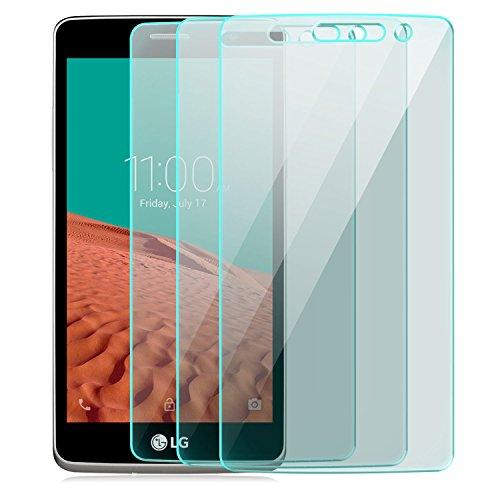 Saxonia 3 Stück Bildschirmschutz Folie kompatibel mit LG Bello 2 Bildschirmschutzfolie aus gehärtetem Glas Schutzglas Glasfolie Schutzfolie   HD Klar Transparent