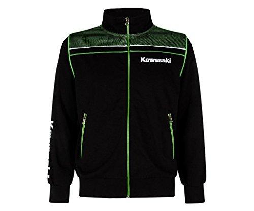 Kawasaki Sports Sweatshirt Jacke, Schwarz Grün, L