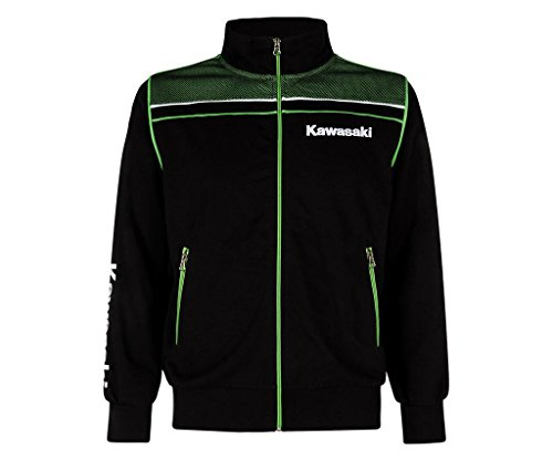 Kawasaki - Sudadera deportiva negro y verde M