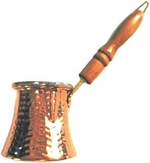 【本場トルコ製】銅製イブリック ジェズべ(トルコ式コーヒー用)木製取っ手 コーヒー3人分