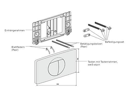 Sanit Betätigungsplatte für 2-Mengenspülung weiß-alpin Drückerplatte