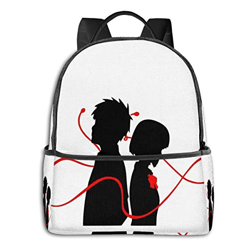 Taki And Mitsuha-Red String Student School Bag School Cycling Leisure Travel Camping Outdoor Backpack