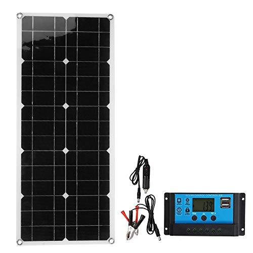 USB-Solarpanel, 400W, 18V, Wasserdichtes Silikon-Solarpanel, Telefon aufladen Solarpanel, Outdoor-Solarpanel, mit 10A Solarzellencontroller für Car Yacht Battery Boat