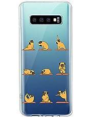 Oihxse Transparente Funda para Samsung Galaxy S7 Ultrafina Silicona Suave TPU Carcasa Interesante Perro Patrón Flexible Protectora Estuche Antigolpes Anti-Choque (A2)